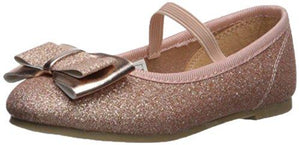 carter's Girls' Bigbow Ballet Flat, Rose Gold, 5 M US Toddler