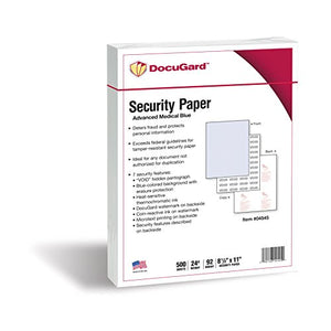 Docugard Advanced Medical Security Paper For Printing Prescriptions 500 Sheets