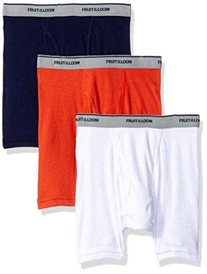 Fruit of the Loom Big Boys' Assorted Boxer Brief, Assorted Solids, M (10-12)