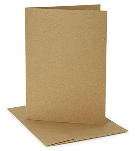Darice Coordination'S 12 Sets A7 Size Cards Envelopes, Kraft Color