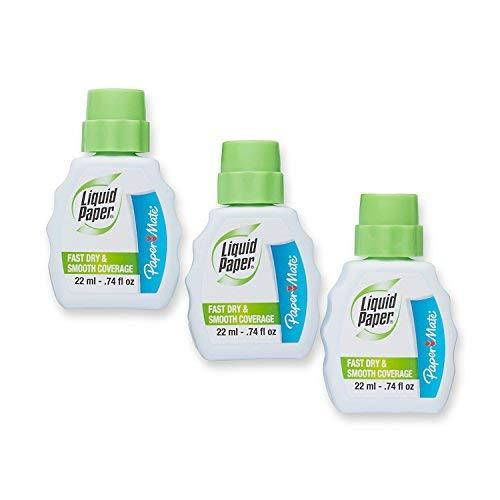 Paper Mate Liquid Paper Fast Dry Correction Fluid, 3 Pack 22Ml (5643115)
