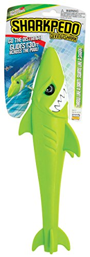 Prime Time Toys Diving Masters Sharkpedo, Shark pool, Underwater Glider Toy, torpedo Green