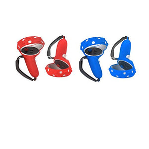 Boolacya 2 Pairs Touch Controller Grip Cover And Adjustable Knuckle Straps