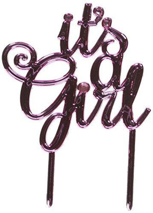 Amscan It'S A Girl Baby Shower Cake Topper