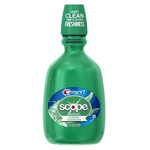 Crest Scope Classic Mouthwash Original Formula, 1.5 L
