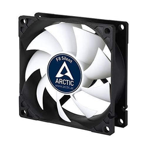 Arctic F8 Silent, 80 Mm 3-Pin Fan With Standard Case And Higher Airflow, Quiet And Efficient Ventilation