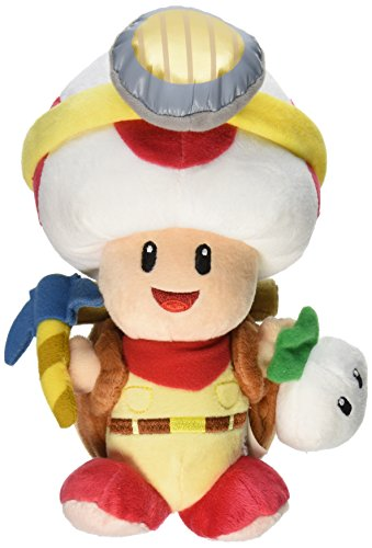 Little Buddy Super Mario Bros. Captain Toad Standing Pose Stuffed Plush, 9""