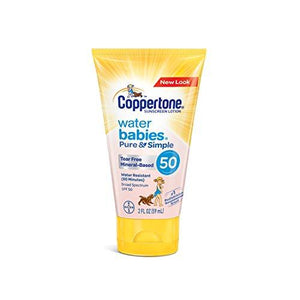 Coppertone Waterbabies Pure & Simple Tear Free Mineral Based Sunscreen Lotion Spf 50 - 2 Fl Oz