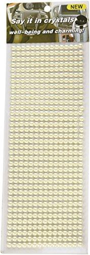 Wrapables 540-Piece Acrylic Pearl Adhesive Rhinestone Stickers, 6mm