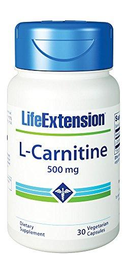 Life Extension L-Carnitine 500 Mg 30 Vegetarian Capsules