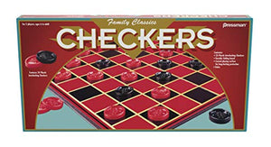 Pressman Family Classics Checkers -- With Folding Board and Interlocking Checkers by Pressman