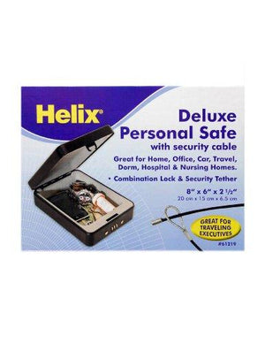 Helix Deluxe Personal Locking Safe with Tether, Heavy-Duty Steel Construction (61219)