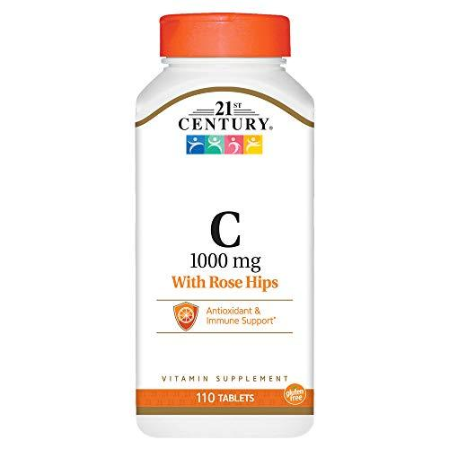 21St Century Natural C 1000 With Rose Hips Caplets, 110 Count