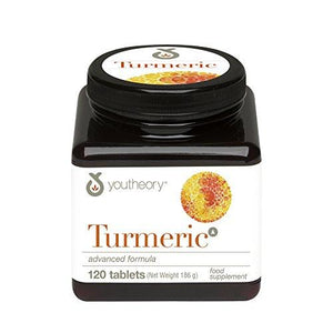 Youtheory Turmeric Advanced With Black Pepper (Bioperine), 120 Count (1 Bottle)