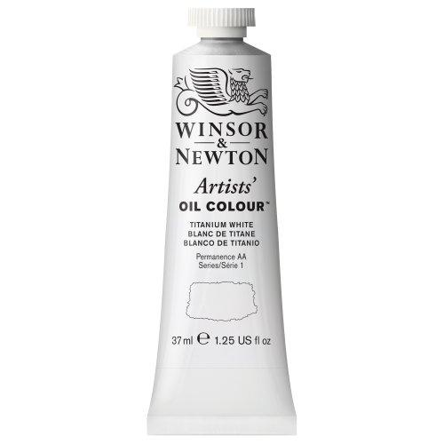 Winsor & Newton Artists' Oil Colour Paint, 37Ml Tube, Titanium White