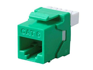 Monoprice Cat6 Rj-45 180-Degree Punch Down Keystone Dual Idc, Green