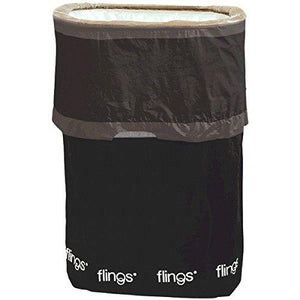 Amscan Black Flings Pop-Up Trash Bin