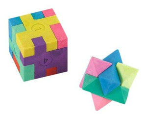 "Amscan Fun-Filled, Puzzle Cube Erasers, Party Supplies, Multicolor, 1 1/8"" X 1 1/8"" X 1 1/8"" 12Ct"