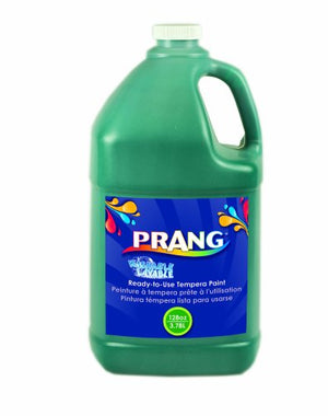Prang Ready-to-Use Washable Tempera Paint, 1 Gallon Bottle, Green (10604)