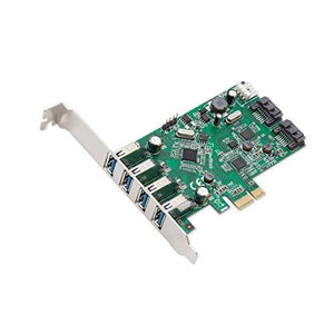 Syba 4 Port Usb 3.0 And 2 Port Sata Iii Pcie 2.0 X 1 Card Vli/Asmedia Chipset Components Other (Sd-Pex50064)