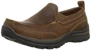 Skechers USA Men's Relaxed Fit Memory Foam Superior Gains Slip-On,11.5 M US,Dark Brown