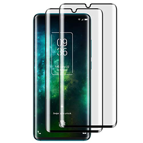 Foluu [2-Pack TCL 10 Pro Screen Protector, Tempered Glass [Full Adhesive][Full Coverage] [Bubble-Free] [Anti Scratch] HD Clear High Responsive for TCL 10 Pro 2020 Release