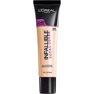 L'Oreal Paris Infallible Total Cover Foundation, Classic Ivory, 1 Fl Oz