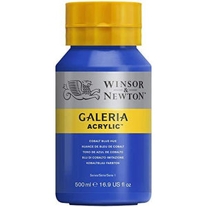 Winsor & Newton Galeria Acrylic Paint, 500Ml Bottle, Cobalt Blue Hue
