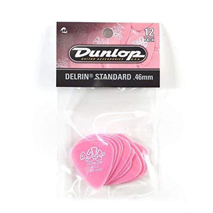 Jim Dunlop 41P.46 Delrin, Light Pink, .46Mm, 12/Player'S Pack