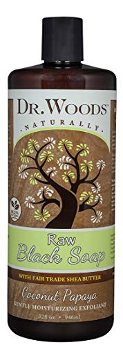 Dr. Woods Raw Moisturizing Black Coconut Papaya Soap with Organic Shea Butter, 32 Ounce