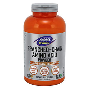 NOW Sports Nutrition, Branched Chain Amino Acid Powder with Leucine, Isoleucine, and Valine, 12-Ounce