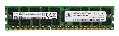 Adamanta 16GB (1x16GB) Server Memory Upgrade for Dell Poweredge & Precision Servers Samsung Original DDR3L 1600Mhz PC3L-12800 ECC Registered 2Rx4 CL11 1.35v P/N: SNP20D6FC/16G DRAM RAM