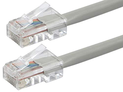 Buhbo 15 ft CAT 5E UTP Ethernet Network Non Booted Patch Cable, Gray