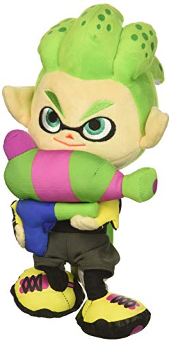 "Little Buddy Splatoon 2 Series Inkling Boy Neon Green Plush, 10"", Multi-Colored"