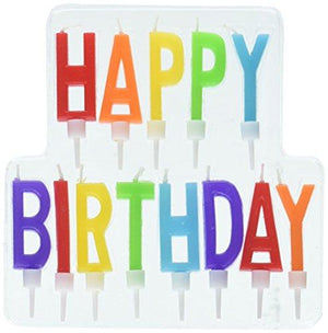 "Amscan 170333 Happy Birthday Letter Candles, 2 1/8"", Multicolor"