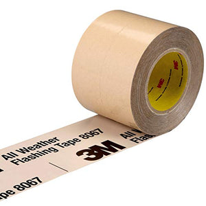 3M All Weather Flashing Tape 8067 Tan, 3 in x 75 ft, Slit Liner (2-1 Slit)