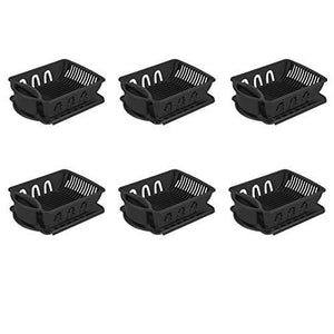 Sterilite 06219006 2-Piece Sink Set, Black, 6-Pack