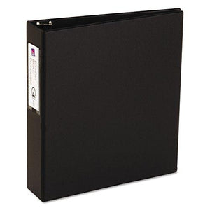 "Avery 04501 Economy Non-View Binder With Round Rings, 11 X 8 1/2, 2"" Capacity, Black"