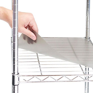 "Seville Classics 2 Individual Smoke Gray Shelf Liners, Designed to Fit 30"" x 14"" Wire Shelves"