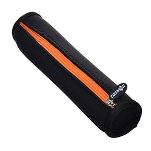 Cosmos Black Color With Orange Zipper Neoprene Stylus Pen Pencil Case Holder Bag Pouch