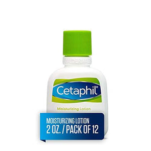 Cetaphil Moisturizing Lotion For All Skin Types, Body And Face Lotion, 2 Oz. (Pack Of 12)
