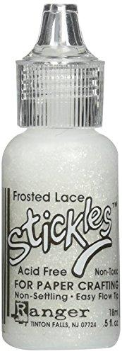 Ranger 1/2 Ounce Stickles Glitter Glue, Frosted Lace