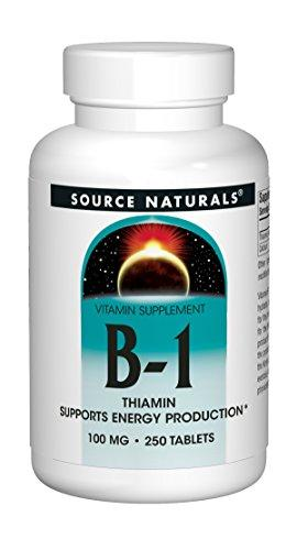 Source Naturals Vitamin B-1 Thiamin 100Mg - Essential Vitamin - 100% Pure - 250 Tablets