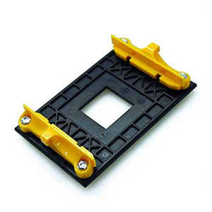Aimixin AM4 CPU Heatsink Bracket,Socket Retention Mounting Bracket for Hook-Type Air-Cooled or Partially Water-Cooled Radiators, AMD CPU Fan Bracket Base for AM4 (B350 X370 A320) (Yellow)