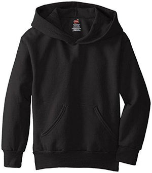 Hanes Big Boys' Eco Smart Fleece Pullover Hood Black Large