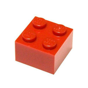 Lego Parts And Pieces: 2X2 Red (Bright Red) Brick X100