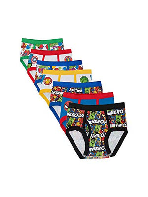 Marvel Boys' Toddler 7-Pack Superhero Adventures Brief Underwear Super Hero/Multi 2/3T
