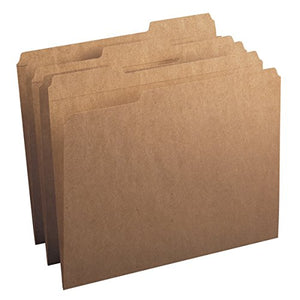 Smead File Folder, Reinforced 1/3-Cut Tab, Letter Size, Kraft, 100 Per Box (10734)