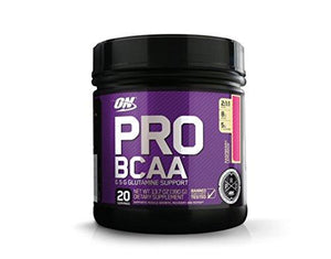 Optimum Nutrition Pro Bcaa With Glutamine, Raspberry Lemonade, Branched Chain Amino Acids Support, 20 Servings (Packaging May Vary)