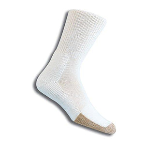 Thorlos Unisex Tx Tennis Thick Padded Crew Sock White Large